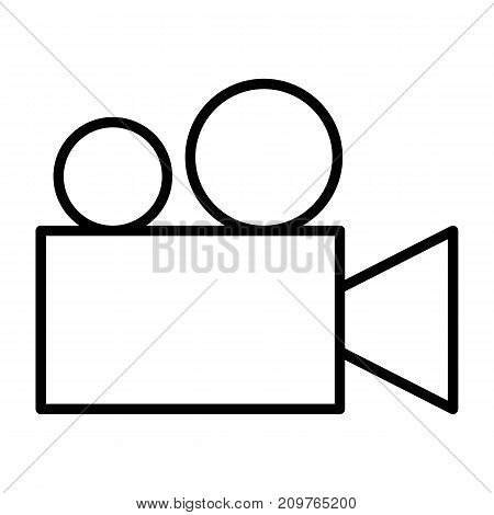 Video camera thin line icon.  96x96 for Web Graphics and Apps.  Cinema Simple Minimal Pictogram. Vector