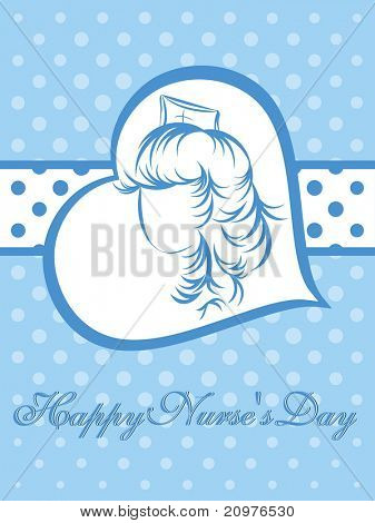 vector greeting card for happy nurse's day celebration poster