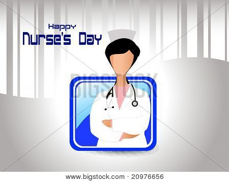 abstract medical concept background for nurse's day celebration