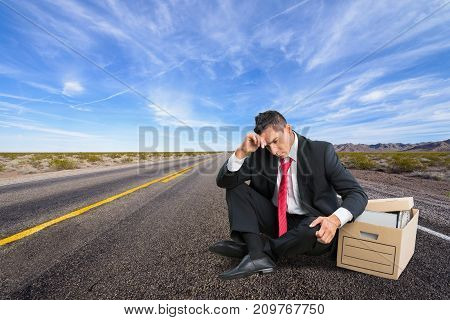 Man tired work color background years heap