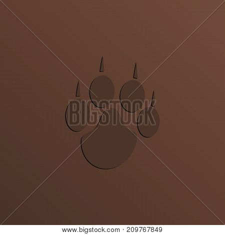 A trail of a dog's trail with claws. Vector illustration