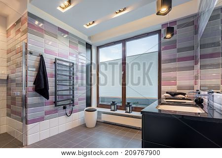 Spacious Bathroom With Window