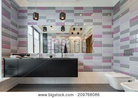 Bathroom With Brig Mirror