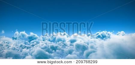 Scenic view of clouds against blue sky