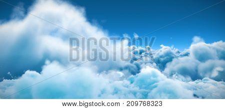 Tranquil scene of overcast against blue sky