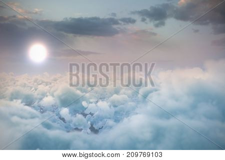 Low angle view of cloudscape in sky during sunset