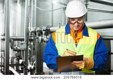 Worker factory hard hat box equipment market merchandise