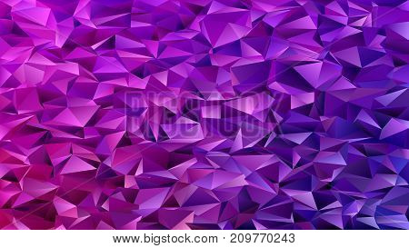 Purple abstract mosaic chaotic triangle pattern background - geometrical vector graphic design from colored triangles in dark tones