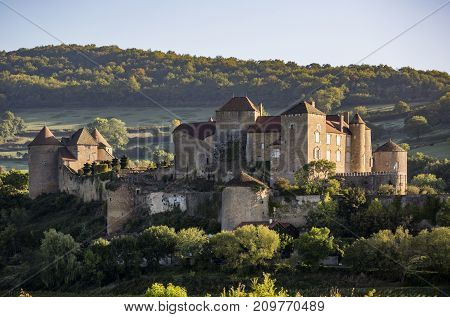 Berze castle, the biggest and oldest fortress in South Burgundy, France