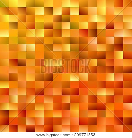 Geometrical mosaic rectangle background - modern gradient vector design from rectangles in orange tones