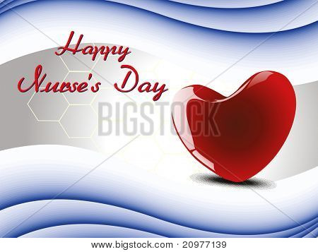 abstract concept background for happy nurse's day celebration