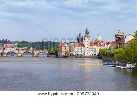 Old Prague View In Summer Day