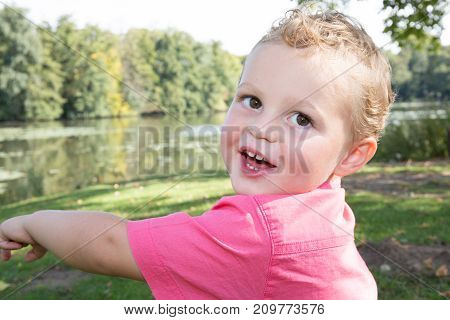 Candid Portrait Of Adorable Little Boy Of 3 4 Years Old