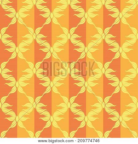 Seamless abstract stars vintage orange pattern. Vector illustration