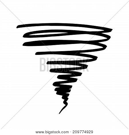 Icon tornadoes in the linear flat style. Vector illustration isolate on a white background. Weather sign Vector.