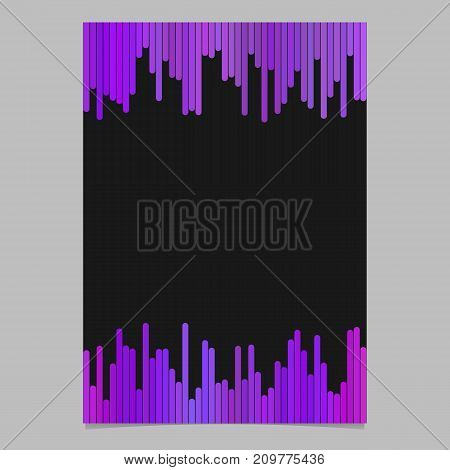 Document template from vertical lines - vector flyer, brochure design with black background