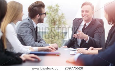 Business and office concept - successful business team working