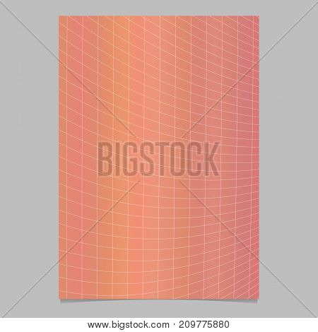 Abstract modern colored gradient grid page template - vector brochure background graphic design