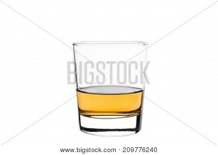 Tumbler On White Background With Colored Liquid. Isolated.