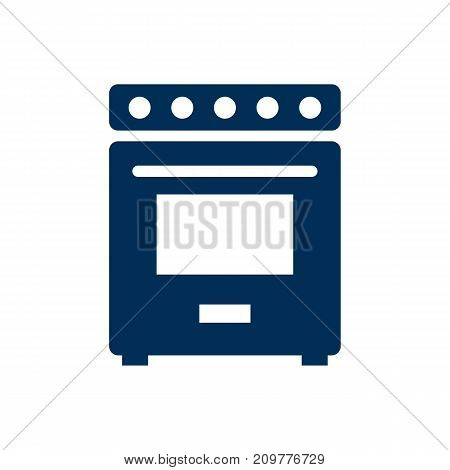 Vector Furnace Element In Trendy Style.  Isolated Oven Icon Symbol On Clean Background.