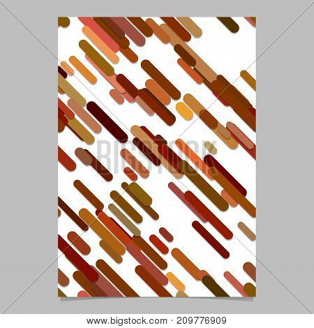 Repeating abstract random rounded diagonal stripe pattern page, brochure template - vector flyer background graphic