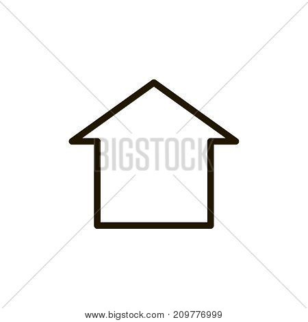 Home icon flat icon. Single high quality outline symbol of info for web design or mobile app. Thin line signs of house for design logo, visit card, etc. Outline logo of Home button