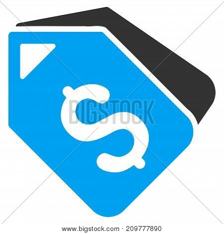 Bank Account Tags vector icon. Flat bicolor blue and gray symbol. Pictogram is isolated on a white background. Designed for web and software interfaces.