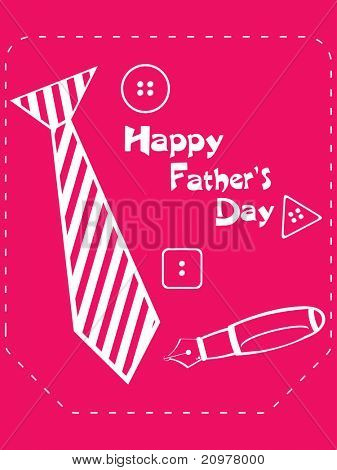 abstract pink background with tie, button and pen