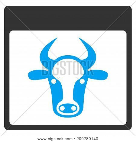 Cow Page vector icon. Flat bicolor blue and gray symbol. Pictogram is isolated on a white background. Designed for web and software interfaces.