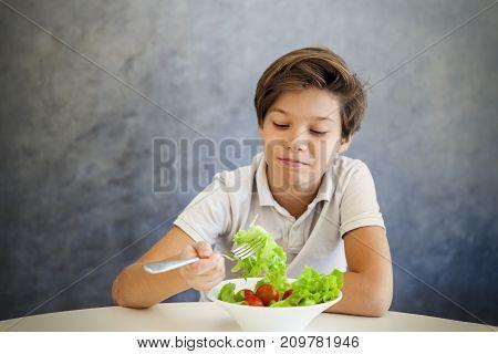 Teen Boy Refuses To Eat Salad