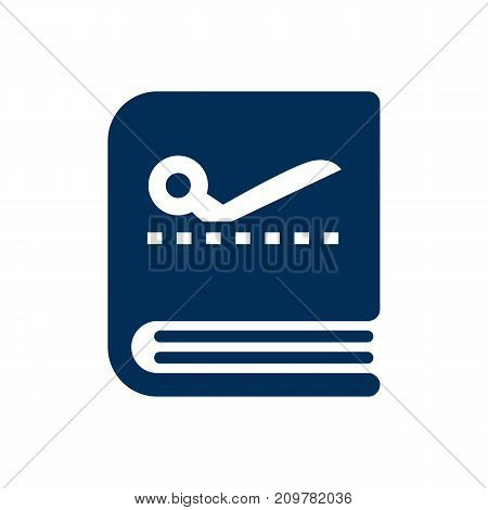Vector Tailor Copybook Element In Trendy Style.  Isolated Scrapbook Icon Symbol On Clean Background.