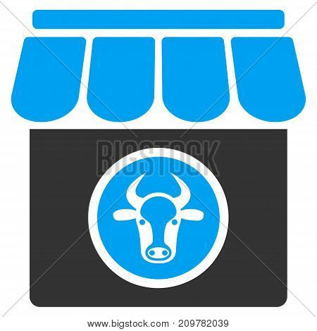 Livestock Farm vector icon. Flat bicolor blue and gray symbol. Pictogram is isolated on a white background. Designed for web and software interfaces.