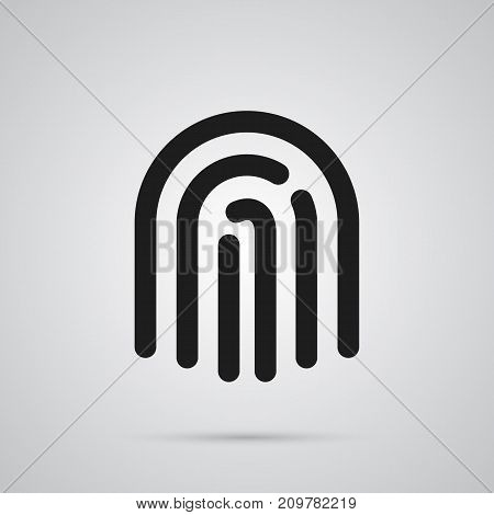 Vector Thumbprint Element In Trendy Style.  Isolated Fingerprint Icon Symbol On Clean Background.