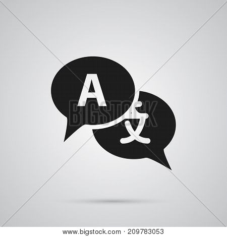 Vector Translate  Element In Trendy Style.  Isolated Interpreter Icon Symbol On Clean Background.