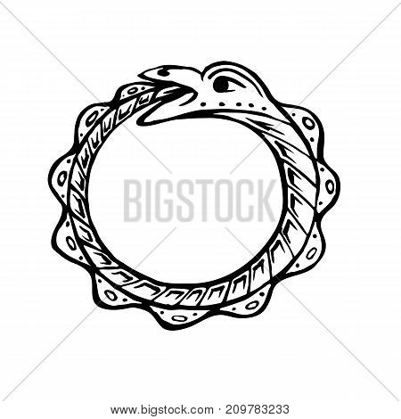 Uroboros Snake Eats Vector Photo Free Trial Bigstock