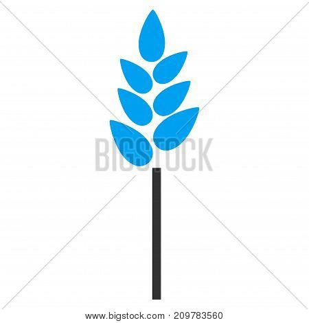 Wheat Ear vector icon. Flat bicolor blue and gray symbol. Pictogram is isolated on a white background. Designed for web and software interfaces.