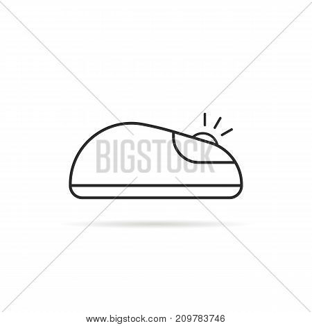 thin line click computer mouse icon. concept of navigation silhouette, communication, web surfing on white background