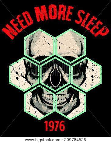 Skull T shirt Graphic Design fashion style new art