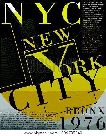 Newyork fashion tee typography graphic design fashion style new art