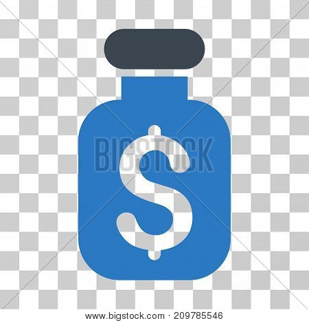 Business Remedy icon. Vector illustration style is flat iconic bicolor symbol, smooth blue colors, transparent background. Designed for web and software interfaces.