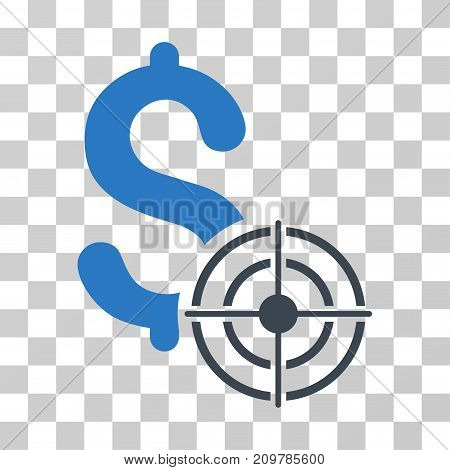 Business Target icon. Vector illustration style is flat iconic bicolor symbol, smooth blue colors, transparent background. Designed for web and software interfaces.