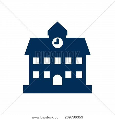 Vector University Element In Trendy Style.  Isolated School Icon Symbol On Clean Background.