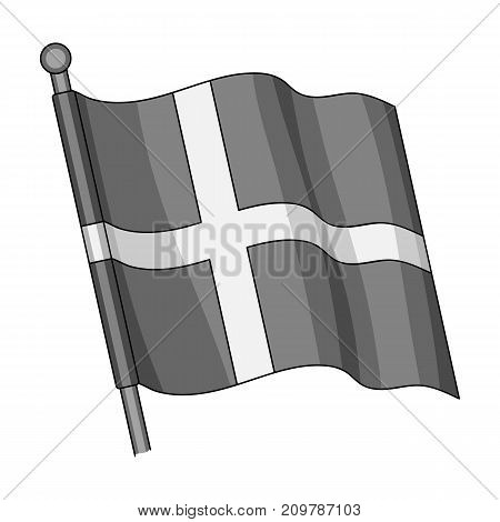 Flag, single icon in monochrome style.Flag, vector symbol stock illustration .