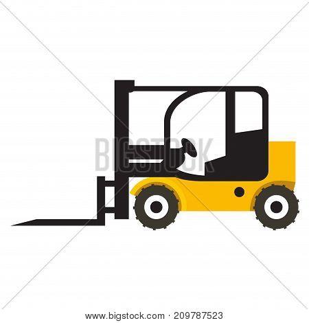 Forklift vehicle icon isolated on white background, Vector illustration