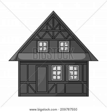 House, single icon in monochrome style.House, vector symbol stock illustration .