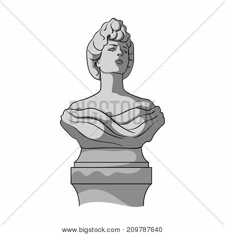 Monument, single icon in monochrome style.Monument vector symbol stock illustration .