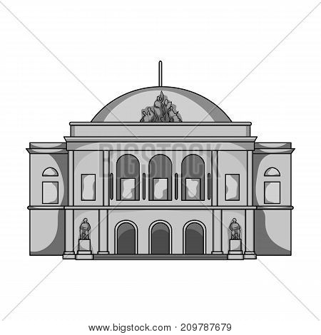 Building, single icon in monochrome style.Building vector symbol stock illustration .