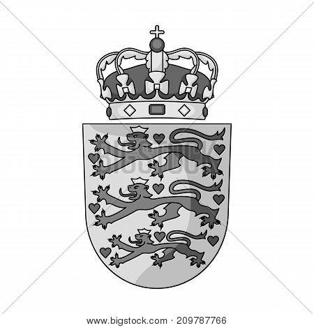 Emblem, single icon in monochrome style.Emblem, vector symbol stock illustration .