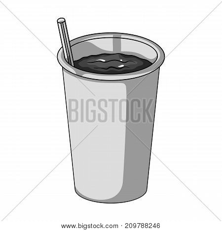 Glass, single icon in monochrome style.Glass, vector symbol stock illustration .