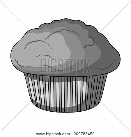 Cake, single icon in monochrome style.Cake, vector symbol stock illustration .